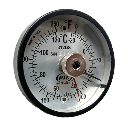 Dual Scale Magnetic Thermometer with Ancillary Hand
