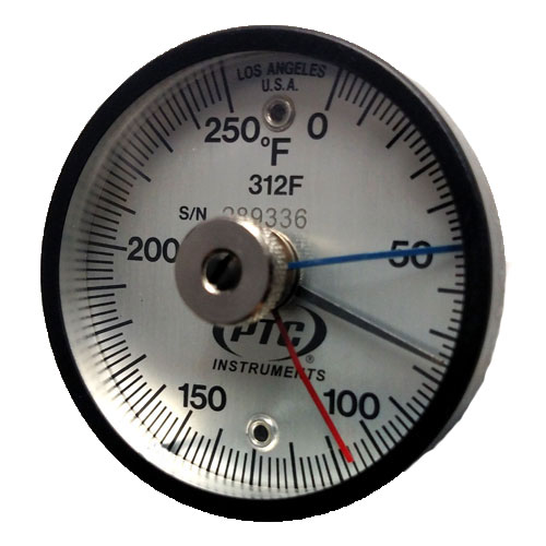 Magnetic Surface Thermometer with Max-Min Hands
