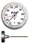 Stainless Steel Lab Stem Thermometers (Small Dials)