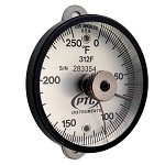 0° to 250°F Tab Mount Thermometer with Ancillary Hand 312FT1L