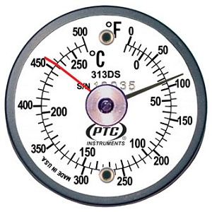 0° to 500°F and -20° to 250°C Surface Thermometer 313DSL