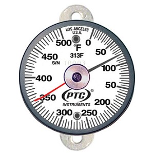 0° to 500°F Tab Mount Thermometer - Ancillary Hand 313FT1L