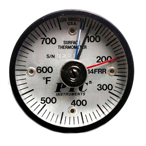 50° to 750°F Rail Surface Thermometer / Max-Min Hands 314FRRMM