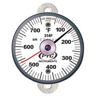 314FT1L Tab Mount Thermometer