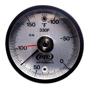 -100° to 160°F  Magnet Surface Thermometer with Ancillary Hand 330FL