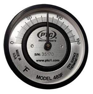 Pipe Thermometer Spring Held
