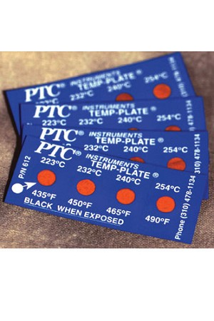 4 Spot Temperature Labels Pack of 10